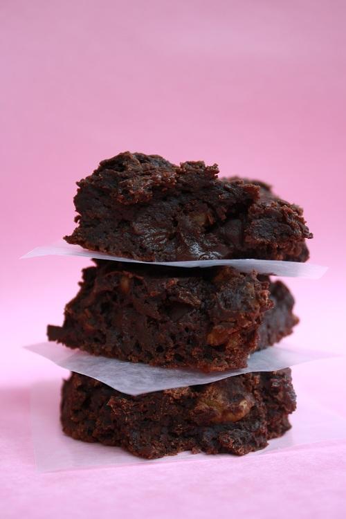 Low-fat vegan brownies